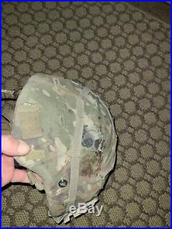 ACH Helmet Large, ECH With Pads, Cover, Chin Strap, Nvg Mount