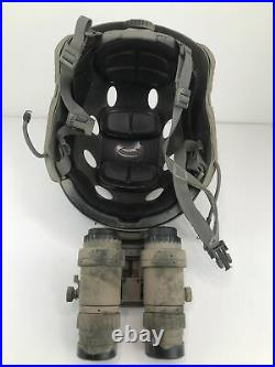 Anvis 9 night vision goggles witho batteryWilcox MountHell Star 5V-LineHelmet