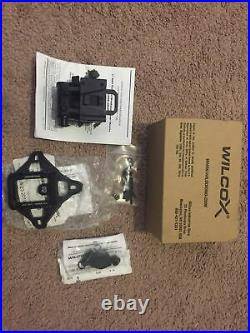 Black Wilcox G24 NVG Mount With Shroud. SOF PVS 31 Capable