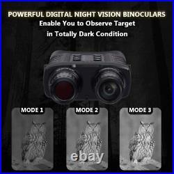 D80 IR Night Vision Goggles 1080P, 4X20 Zoom, 3000M Viewing Range, High-Definiti