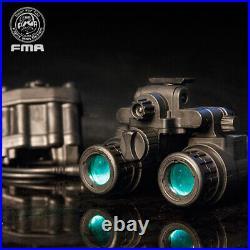 FMA Airsoft Binocular Helmet NVG PVS31 Dummy with Light Function Version B Army