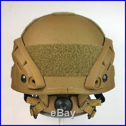 Gentex Military Advanced Combat Helmet ACH MICH Ballistic Rails NVG Coyote Brown