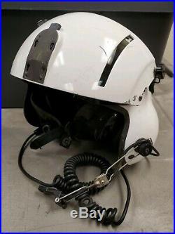 Gentex SPH-5 Helicopter Flight Helmet XL with Dual Visors & NVG Mount ANVIS White