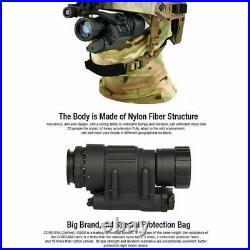 IR Waterproof HD 2X Monocular Night Vision Helmet Scope Hunting Or NVG Rhino Arm
