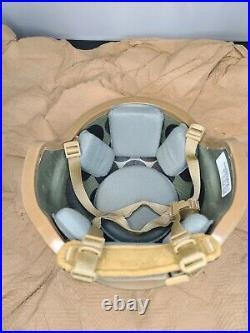 LARGE GENTEX 3M Enhanced Combat Helmet ECH USMC Coyote Marine NVG Mount