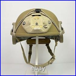Large Ceradyne 3M Enhanced Combat Helmet ECH USMC Coyote ACH LWH NVG Rails Recon