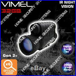 Monocular Night Vision Camera NV Digital Recorder IR Goggles Security Gen 2+