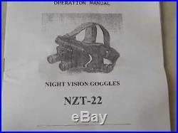 NIGHT VISION GOGGLES. NZT-22. NEU. 0600059 send EMS
