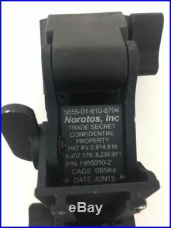 NOROTOS Titanium Rhino Mount II, NVG Night Vision Military ACH Lowering Arm