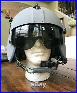 New Hgu56 Gentex Flight Pilot Helmet & Nvg Mfs Cep Bundle Bag Large Hgu 56