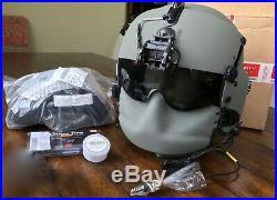New Hgu56 Gentex Flight Pilot Helmet & Nvg, Mfs, Cep, Cobra MIC Large Hgu 56