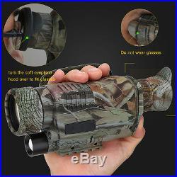 Night Vision 5X40 Goggles Monocular Telescope Hunting Video Camera Rifle Scope