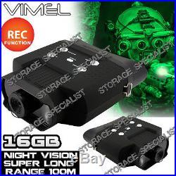 Night Vision Monocular Digital Camera Goggles Binoculars Hunting NV Security 16G