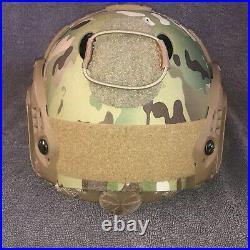 Ops-Core Fast Carbon Helmet S/M Wilcox Fixed NVG Mount & Core Survival HEL-STAR
