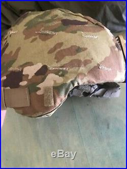Original US Army ACH Advanced Combat Helmet with Cover And NVG. Large 2005