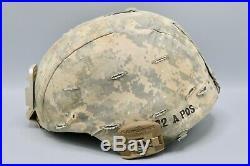 Original US Army ACH IDed Advanced Combat Helmet w NVG & Surefire Mount
