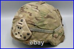 Original US Army Enhanced Combat Helmet ECH with OCP Cover and NVG Mount Medium