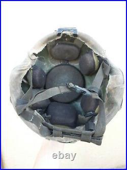 Size Large USGI US Army MSA ACH Ballistic Combat Helmet with NVG Rhino Mount