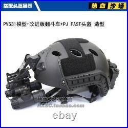 Tactical Airsoft AN/PVS-31 NVG Model Luminous + AN/PVS-31 Metal Helmet Mount