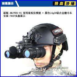 Tactical Airsoft Dummy Metal PVS-15 NVG + L4G24 Helmet Mount + ABS Box