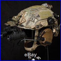 Tactical L4 G24 MICH / ACH Helmet NVG Mount + Ops-Core Shroud AN PVS15 PVS18 Tan