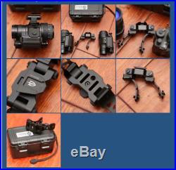 Tactical Metal PVS28 NVG Bracket Mount J arm For AN/PVS 14 Dual Night vision