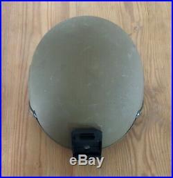 USMC Ceradyne Inc. ECH Helmet! With Pads, Strap, & NVG Mount! Size Medium, LOOK