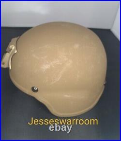 Usmc Ech Helmet Medium Ceradyne With Nvg Cover New Nvg Mount Combat Helmet