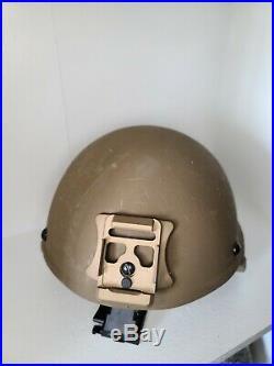 Usmc Ech Helmet XL Ceradyne With Nvg Cover New Nvg Mount New
