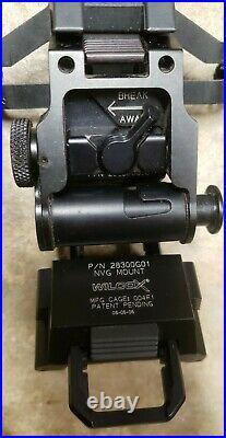 Wilcox G01 NVG dovetail breakaway Mount 28300G01 & 3-Hole Bracket pvs14 pvs15